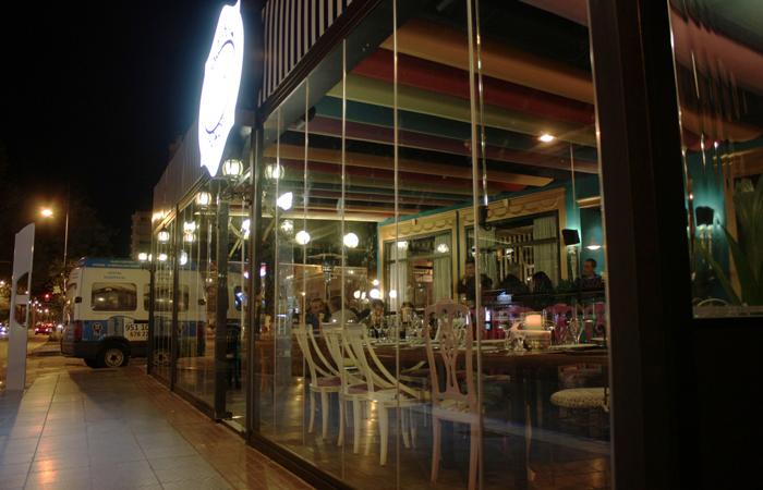 Cortina de cristal para restaurante