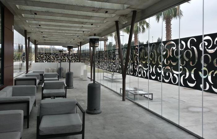 Cortina de cristal para terraza
